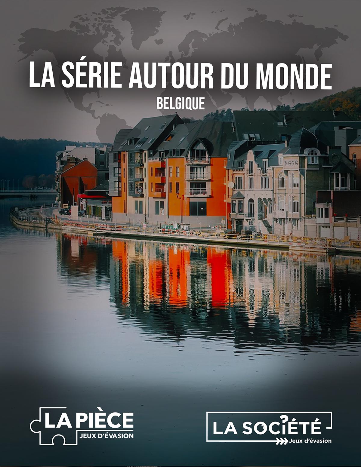 Image de couverture du jeu de la Belgique - maisons se reflétant dans l'eau