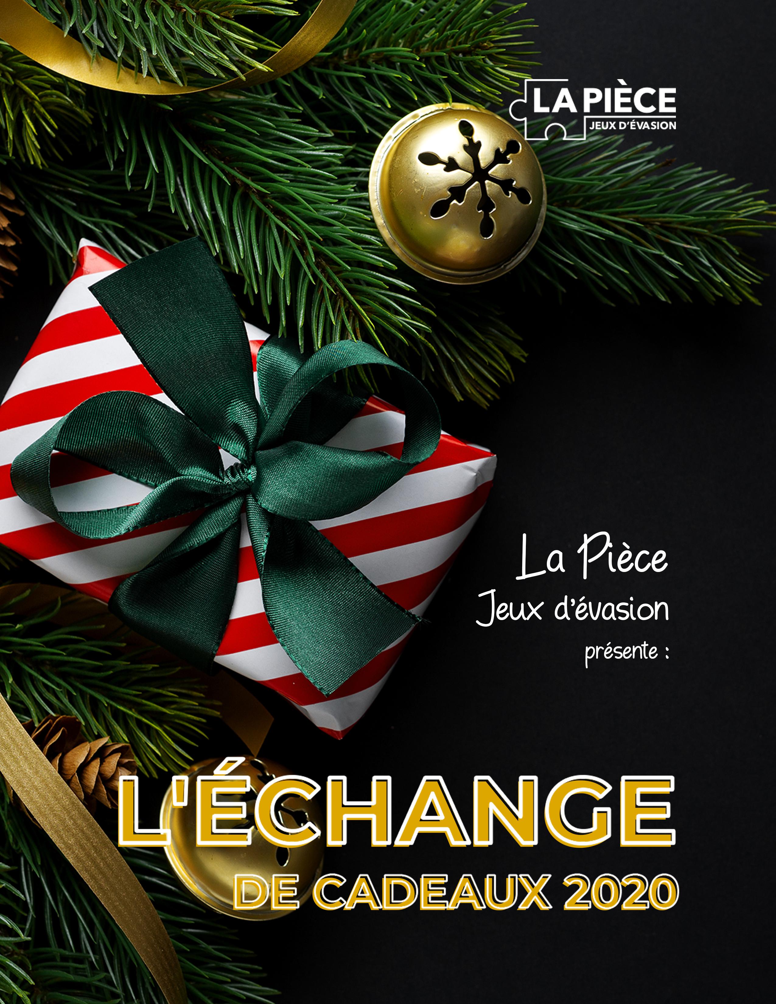 Affiche échange de cadeaux