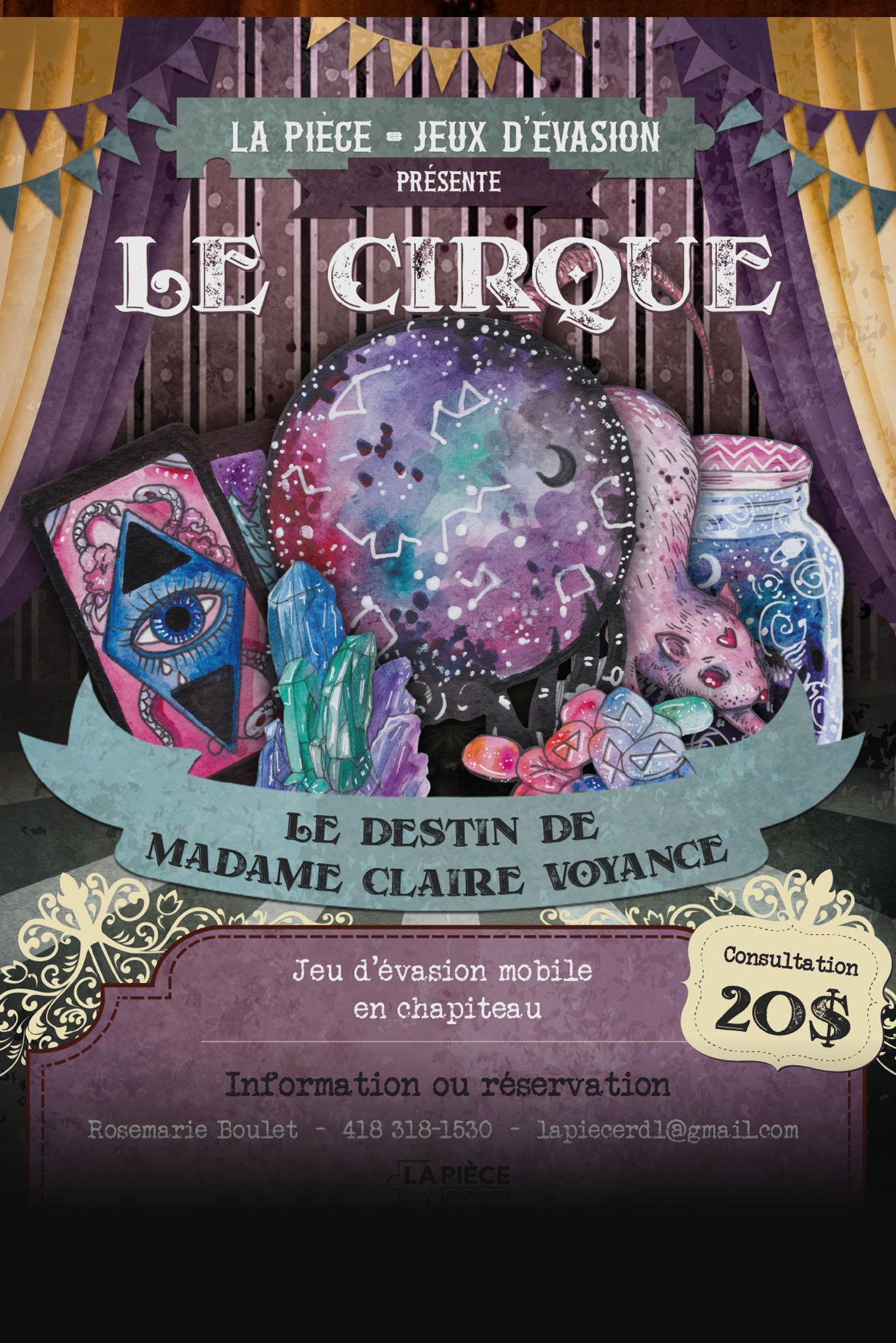 Affiche : Le destin de madame Claire Voyance